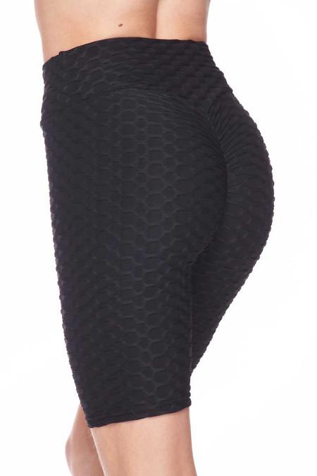 Scrunch Butt Textured High Waisted Shorts