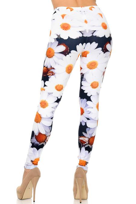 Back side image of Creamy Soft Daisy Plus Size Leggings - USA Fashion™