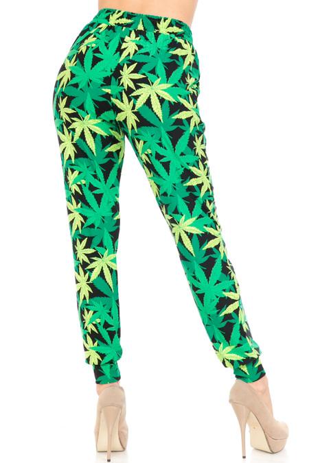 Buttery Soft Cannabis Green Marijuana Joggers