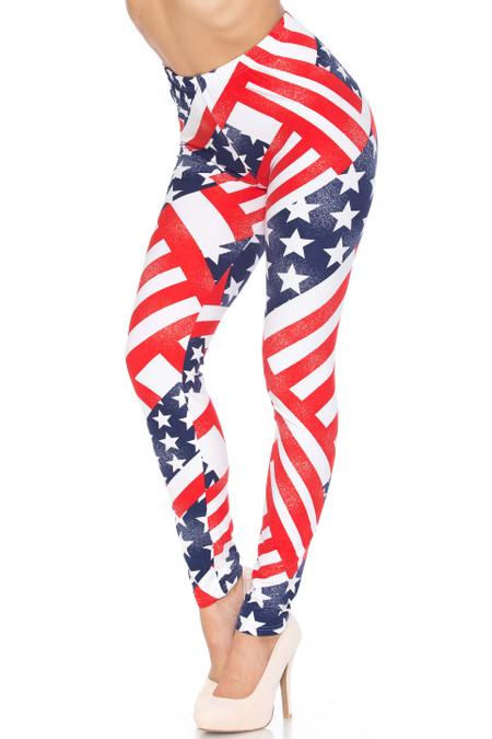 Patriot USA Flag Buttery Soft Leggings