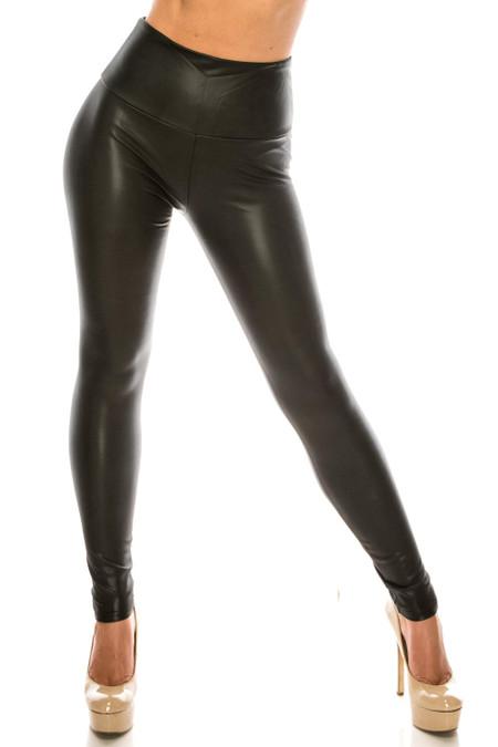 Wholesale Premium Faux Leather Plus Size Leggings