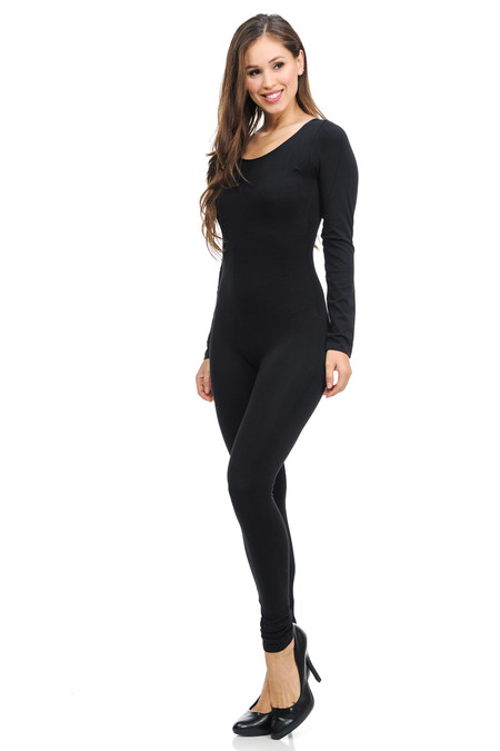 Basic Full Nylon Spandex Jumpsuit
