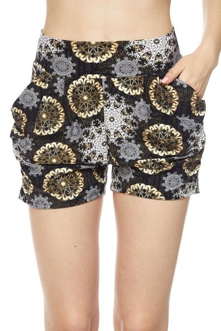 Chic Crystal Mandala Harem Shorts