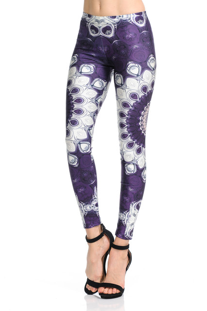 Jumbo Purple Mandala Leggings