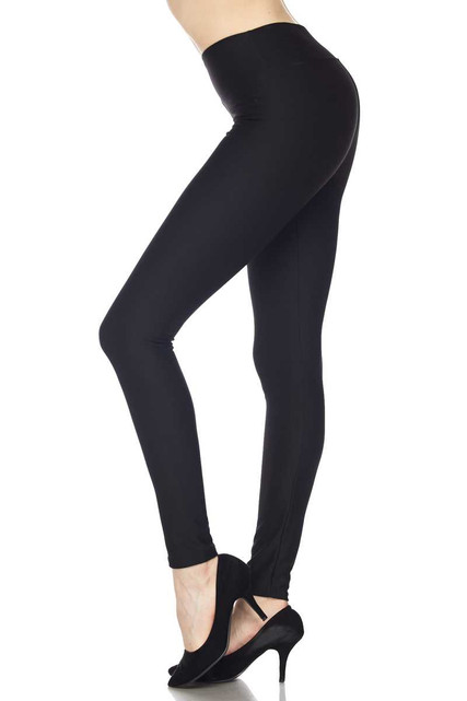 Silky Smooth Black Scuba High Waisted Leggings - 3 Inch