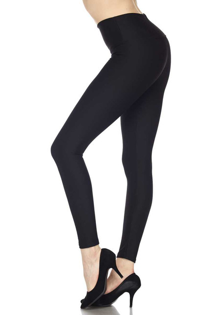 Silky Smooth Black Scuba High Waisted Leggings - 5 Inch