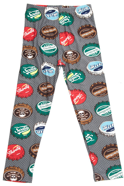 Brushed Groovy Bottlecap Kids Leggings