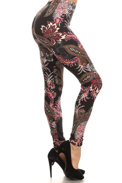 Side Image of Brushed Berry Plume Leggings