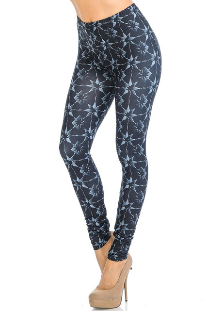 Creamy Soft Metallic Stars Leggings - Signature Collection