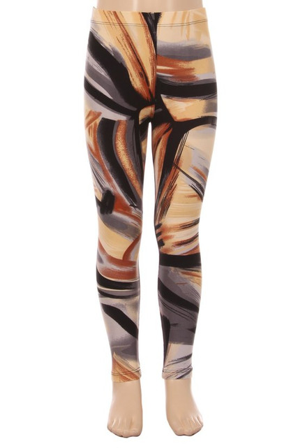 Brushed Brush Stroke Kids Leggings