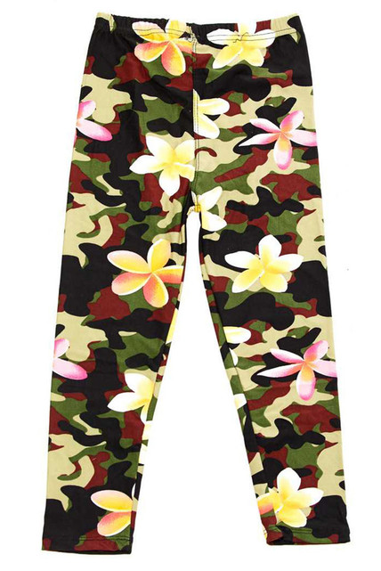 Brushed Daisy Camouflage Kids Leggings