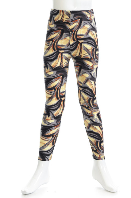 Brushed Mini Brush Strokes Kids Leggings