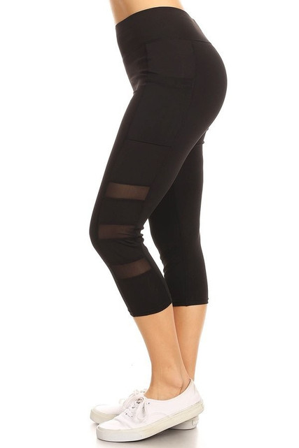 Active Sport Side Mesh Capri