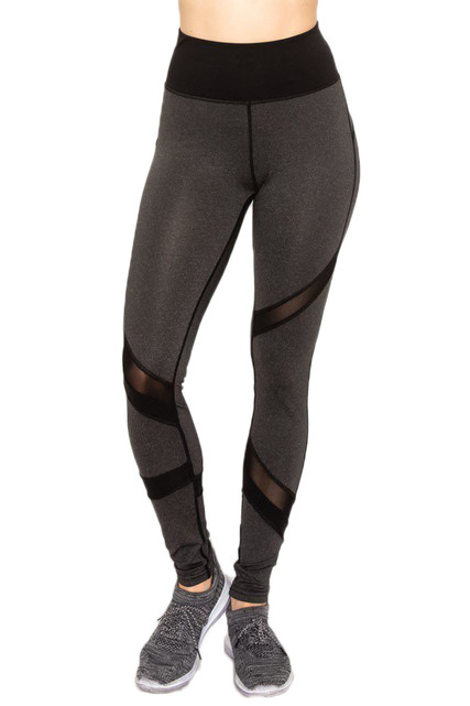 Sport Active Tri Mesh High Waisted Workout Leggings