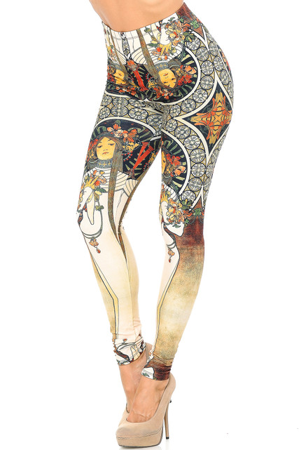 Creamy Soft Gaia Mucha Leggings - USA Fashion™