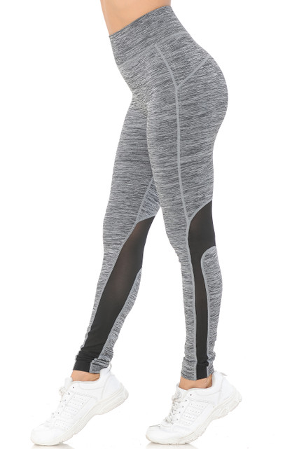Sport Ankle Mesh Workout Leggings
