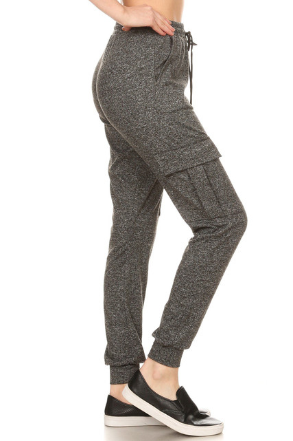 Brushed Fitted Cargo Joggers