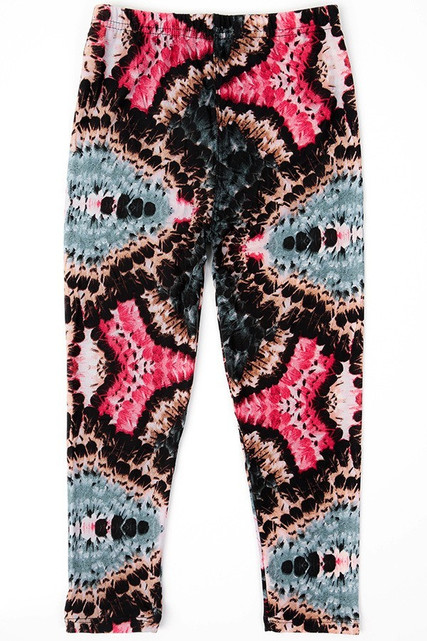 Brushed Abstract Tie Dye Kids Leggings