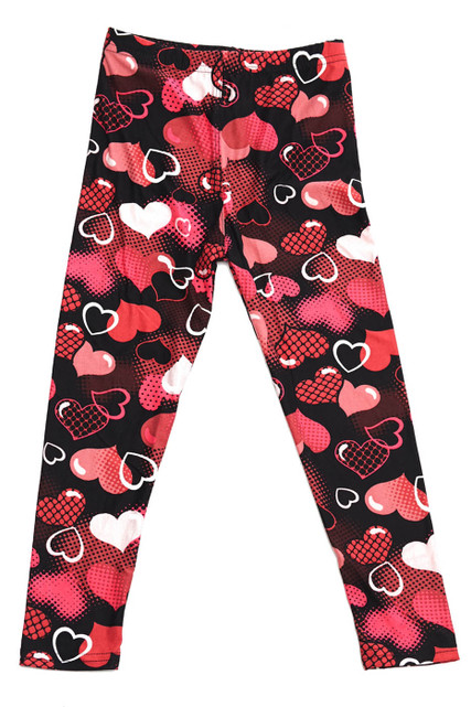 Brushed Valentine Hearts Kids Leggings