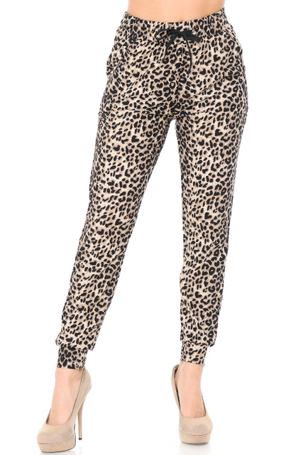 Brushed Feral Cheetah Joggers