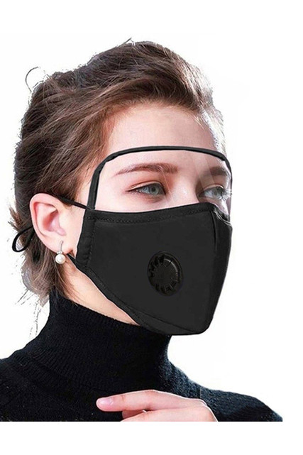 Face Mask with Air Valve and Face Shield