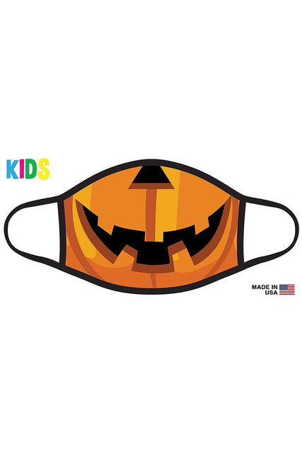 Pumpkin Smile Halloween Kid's Face Mask