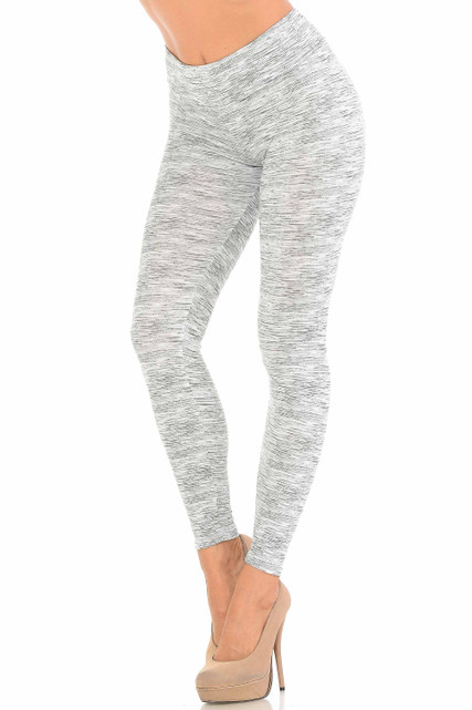 Heathered Ivory Brushed Sport Leggings