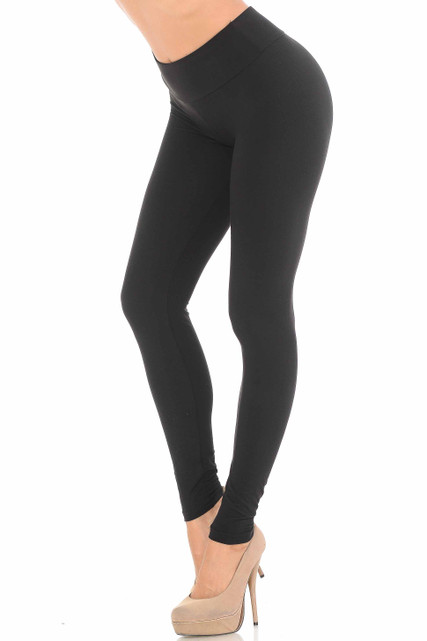 Brushed Black Sport Leggings