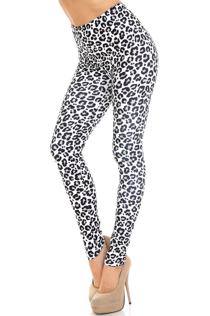 Creamy Soft Urban Leopard Extra Plus Size Leggings - 3X-5X - USA Fashion™