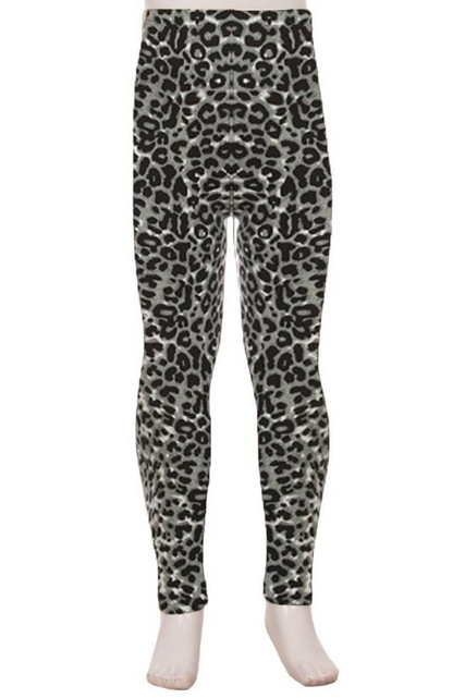 Buttery Soft Snow Leopard Kids Leggings