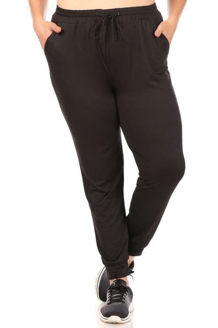 Casual Basic Plus Size Joggers