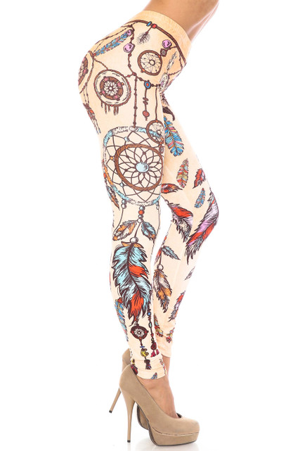 Creamy Soft Dreamcatcher Extra Plus Size Leggings - 3X-5X - USA Fashion™
