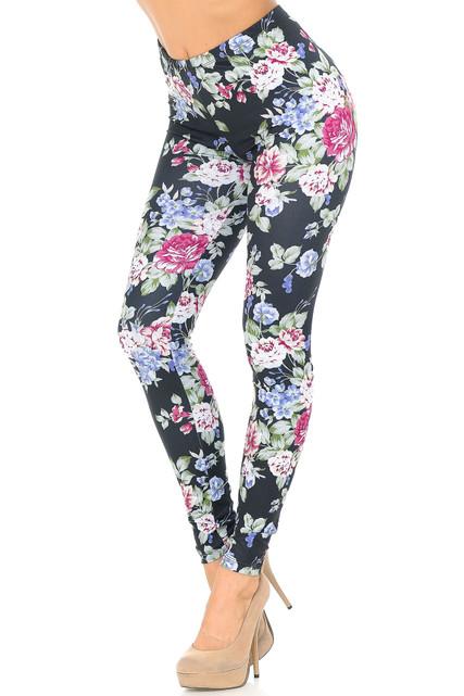 Creamy Soft Delightful Rose Extra Plus Size Leggings - 3X-5X - USA Fashion™