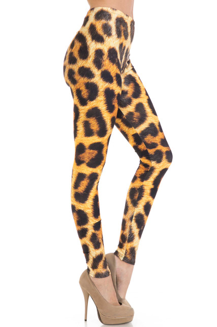 Creamy Soft Spotted Panther Extra Plus Size Leggings - 3X-5X - USA Fashion™