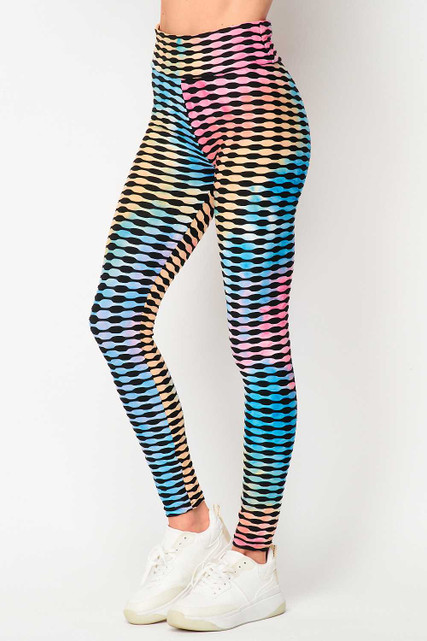 Pastel Bold Brazilian Figure Flatter Scrunch Butt Leggings