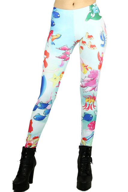 Little Mermaid Princess Leggings