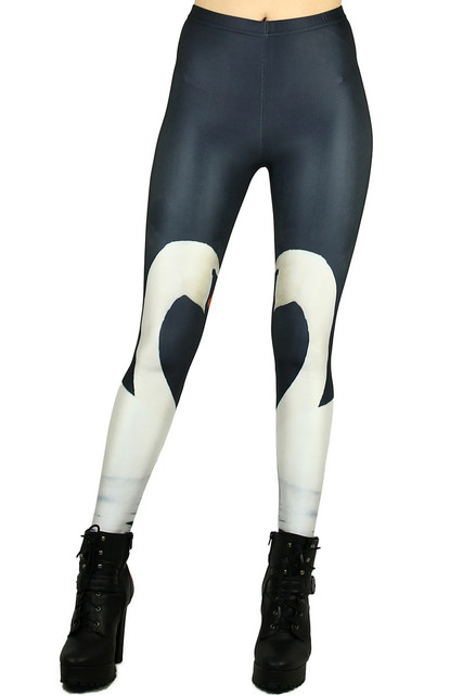 Graceful Swan Leggings
