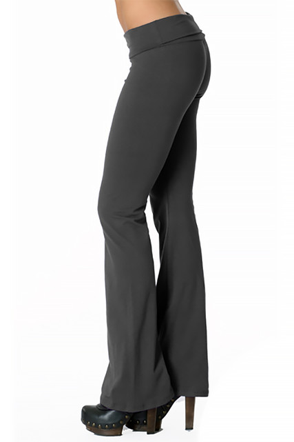 USA Cotton Solid Fold Over Leggings