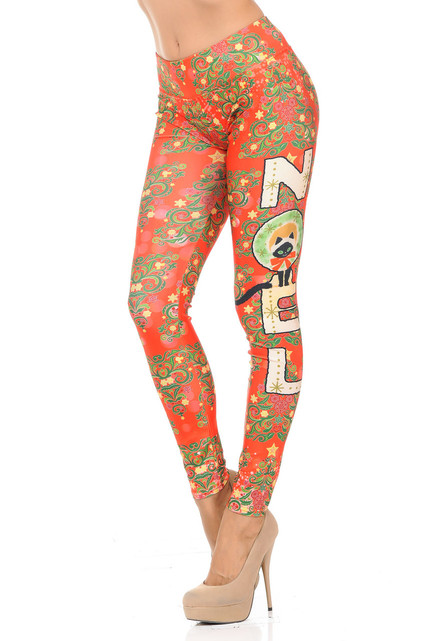 Festive Christmas Noel Leggings
