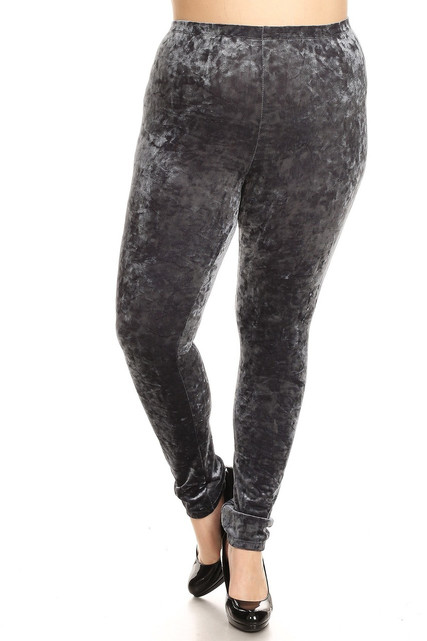 Crushed Velvet Plus Size Leggings