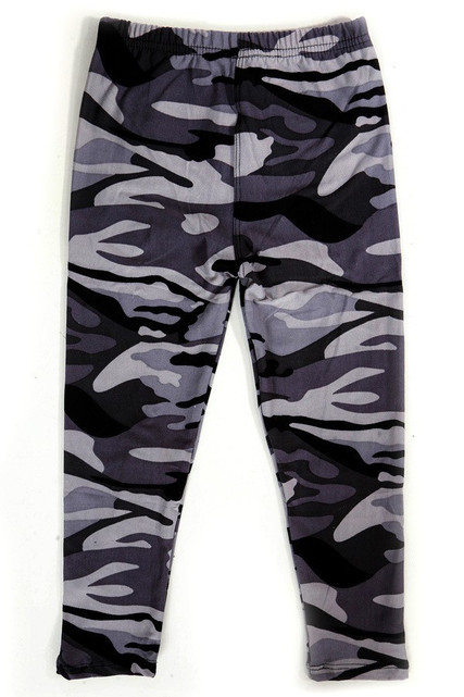 Wholesale Buttery Soft Monochrome Camouflage Kids Leggings