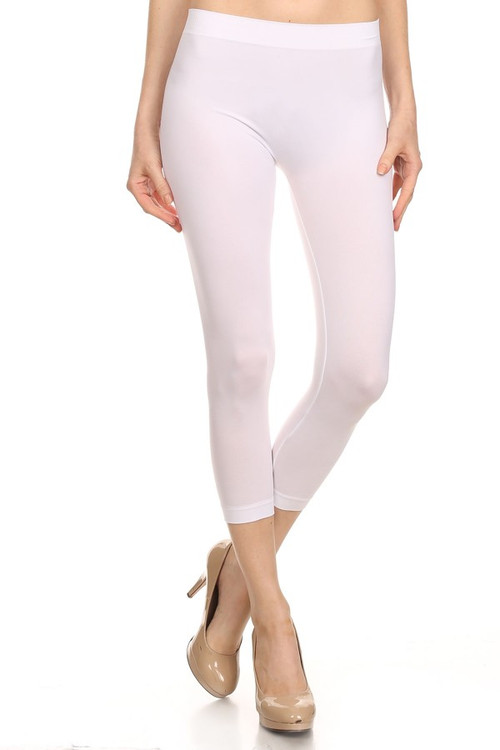 13aae993f3041f Basic Capri Length Spandex Leggings | OnlyLeggings.com