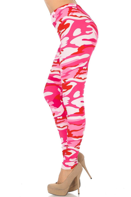 e66882a6ae2ac9 Brushed Pink Camouflage Plus Size Leggings - 3X-5X | Only Leggings