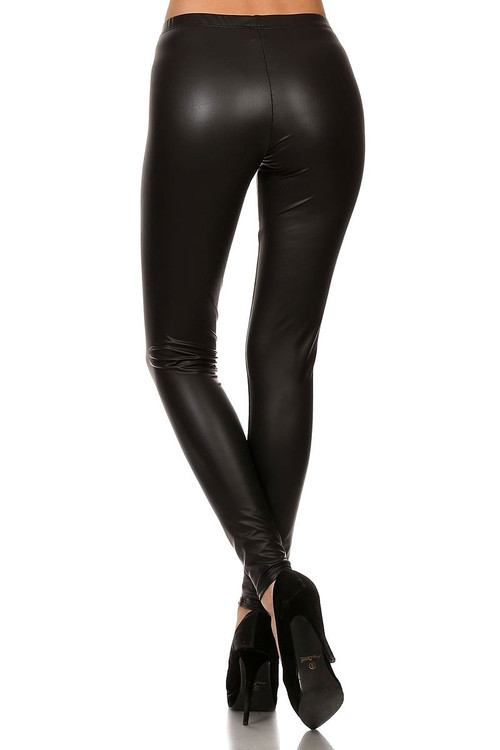 ac06dfa33459 Matte Faux Leather Leggings