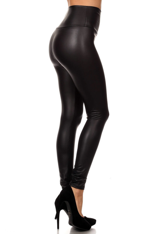 305dfe4eed1ce5 Matte High Waisted Faux Leather leggings | Only Leggings