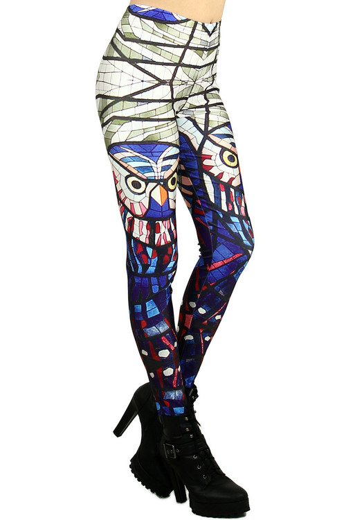 6c300f0438fb4 Mosaic Owl Leggings | OnlyLeggings.com