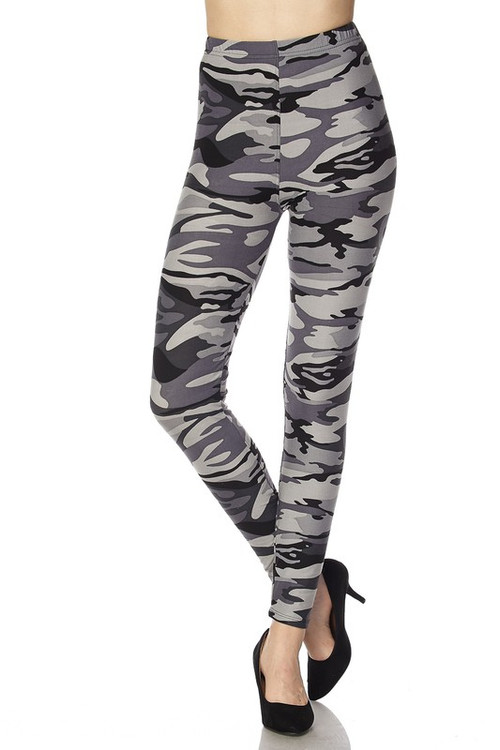 02ead253ad075 Shades of Gray Camouflage Leggings   Only Leggings