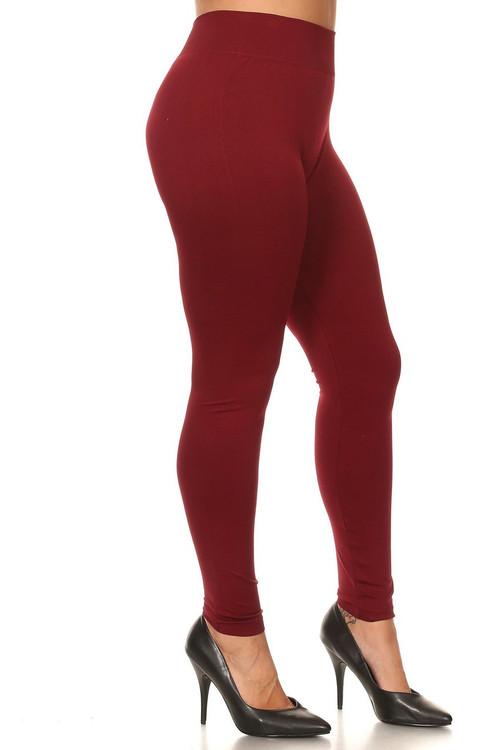 54ca6cf8835 Extra Thick Basic Seamless Leggings - Plus Size