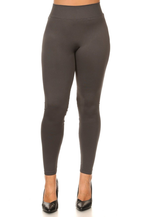 e5e8c286e Extra Thick Basic Seamless Leggings - Plus Size
