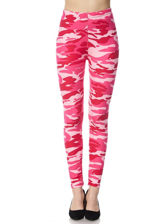 157bc1f3431079 Plus Size Pink Camouflage Leggings | Only Leggings